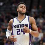 Mar 27, 2017; Sacramento, CA, USA; Sacramento Kings guard Buddy Hield (24) during the third quarter against the Memphis Grizzlies at Golden 1 Center. The Kings defeated the Grizzlies 91-90. Mandatory Credit: Sergio Estrada-USA TODAY Sports