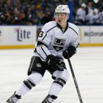 Dec 9, 2014; Buffalo, NY, USA; Los Angeles Kings center Tyler Toffoli (73) during the game against the Buffalo Sabres at First Niagara Center. Mandatory Credit: Kevin Hoffman-USA TODAY Sports